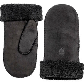 Hestra Sheepskin Mittens Women Black